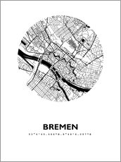 Gallery print  City map of Bremen - 44spaces