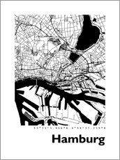 44spaces - City map of Hamburg
