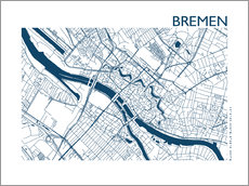 Wall sticker City map of Bremen