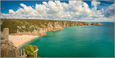 Gallery print  Cornwall   Porthcurno Beach - Sabine Wagner