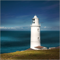 Gallery Print  Lighthouse Trevose Head Cornwall - Sabine Wagner