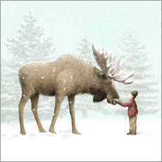 Wall sticker  Winter Moose - Eric Fan