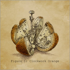 Wall sticker  Steampunk Orange - Eric Fan