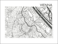 Wall Stickers  City map of Vienna - 44spaces