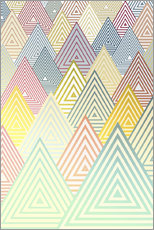 Wall Stickers  Pastel Mountains - Angelo Cerantola