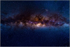 Wall sticker  The Milky Way galaxy, details of the colorful core. - Fabio Lamanna