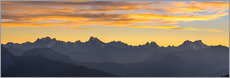 Gallery print  The Alps at sunset, panoramic view - Fabio Lamanna
