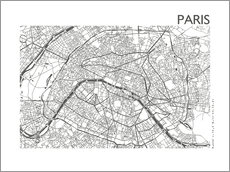 Wall Stickers  Map of Paris - 44spaces