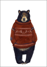 Gallery print  Mr. Bearr in Norwegian sweater - Kidz Collection