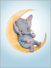 Wall sticker Elephant in the moon