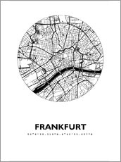 Wall sticker  City map of Frankfurt - 44spaces