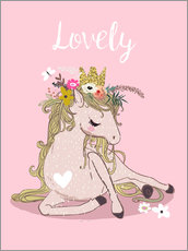 Wall sticker  My heart for horses - Eve Farb