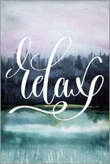 Gallery print  Relax watercolor - Typobox