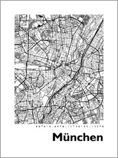 Gallery print  City map of Munich - 44spaces