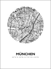 Wall sticker  City map of Munich - 44spaces