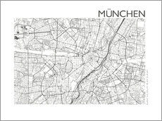 Wall Stickers  City map of Munich - 44spaces