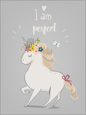 Wall sticker  Perfect little unicorn - Kidz Collection