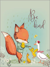 Wall Stickers  Fox and duckling - Kidz Collection