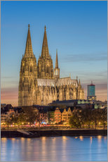 Wall sticker  The Cologne Cathedral in the evening - Michael Valjak