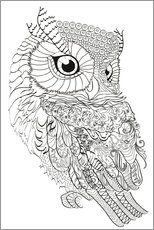 Colouring posters  Owl