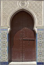 Wall sticker  Wooden door in decorated archway - Nico Tondini