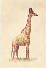 Gallery print  Fashionable giraffe - Terry Fan