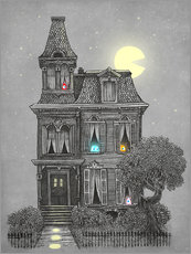 Wall sticker Haunted house