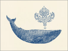 Wall Stickers  A whale from Damask - Terry Fan