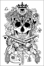 Colouring poster  Rockabilly design