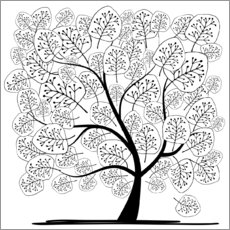 Colouring poster Tree of Life