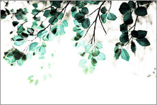 Wall Stickers  Pastel Leaves 1 - Mareike Böhmer Photography