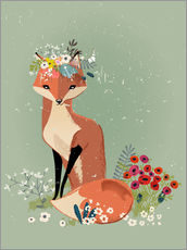 Wall sticker Fox in the spring