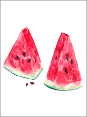 Wall Stickers  watercolor slices of watermelon