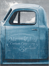 Gallery print  Lets Go for a Ride II Vintage Blue - James Wiens