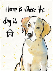 Gallery print  Home is where the dog is II - Anne Tavoletti