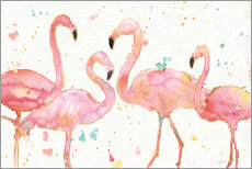 Wall sticker  Flamingo fever I - Anne Tavoletti