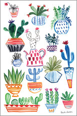 Wall sticker Funky Cactus Collage I