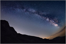 Gallery print  Milky Way arch and starry sky at high altitude in summertime on the Alps - Fabio Lamanna