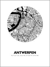 Wall sticker  Map of Antwerp - 44spaces