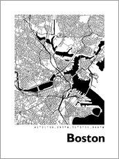Wall sticker  City Map of Boston - 44spaces