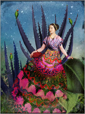 Wall sticker  Blue Agave and Cacao - Catrin Welz-Stein