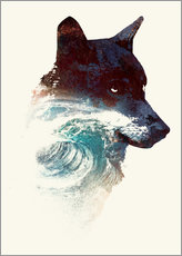 Gallery print  Wolf and wave - Robert Farkas