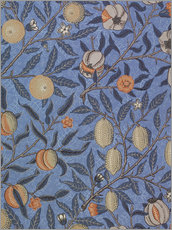 Wall Sticker  Blue fruit or pomegranate - William Morris