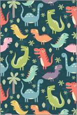 Gallery Print  Colorful dinosaurs - Kidz Collection