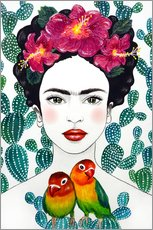 Gallery print  Frida's lovebirds - Mandy Reinmuth