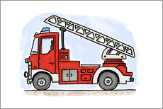 Wall sticker  Firetruck - Hugos Illustrations