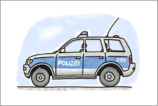 Gallery print  Hugos German police car - Hugos Illustrations
