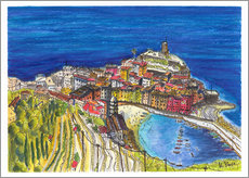 Wall sticker  View to Vernazza - Hartmut Buse