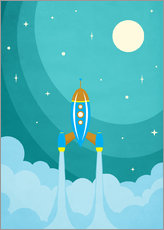 Gallery print  Rocket launch into space - Durro Art