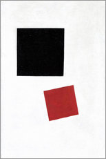 Wall sticker  Black Square and Red Square - Kasimir Sewerinowitsch  Malewitsch
